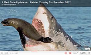 A Shark Eating a Sea Lion