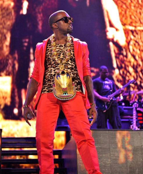 Kanye West wearing Horus bling