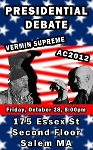 Aleister Crowley 2012 Vermin Supreme Debate poster