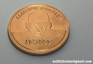 Aleister Crowley 2012 brass coin