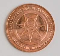Aleister Crowley 2012 Thelema commemorative coin