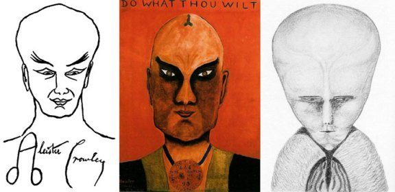 LAM by Aleister Crowley not an alien but a self portrait