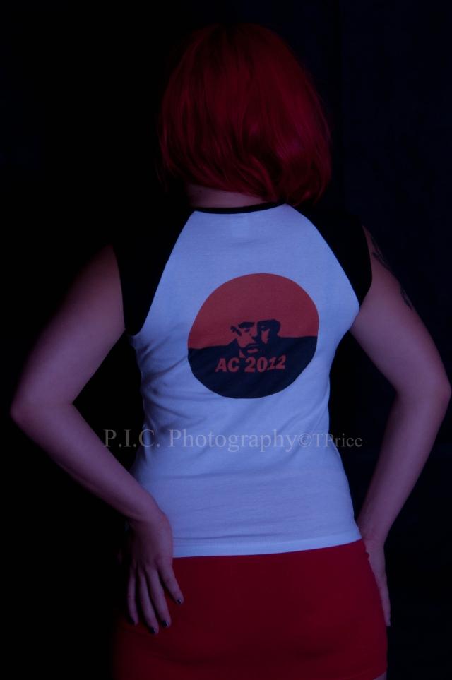 Sara Sabotage Aleister Crowley 2012 cap sleeve t-shirt