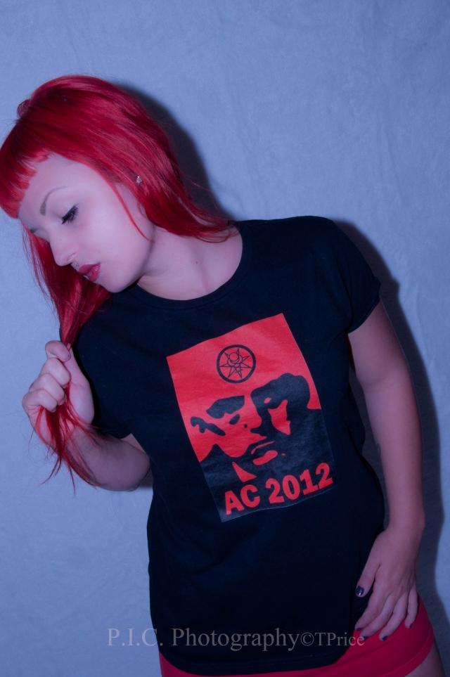 Sara Sabotage Aleister Crowley 2012 t-shirt