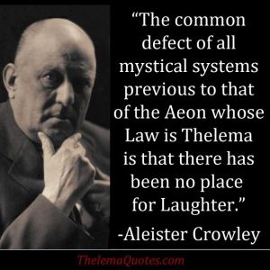 aleister crowley laughter