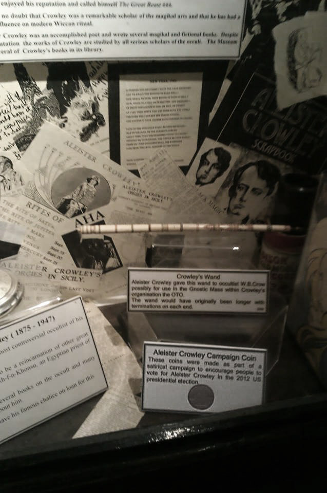 Aleister Crowley Campaign Coin at Museum of Witchcraft